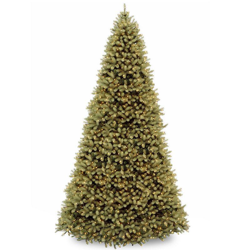 12-ft. ''Feel Real'' Pre-Lit Downswept Douglas Fir Artificial Christmas Tree