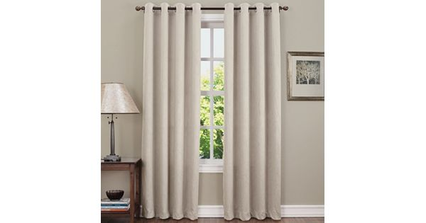 sun zero hanson room darkening curtain. Black Bedroom Furniture Sets. Home Design Ideas