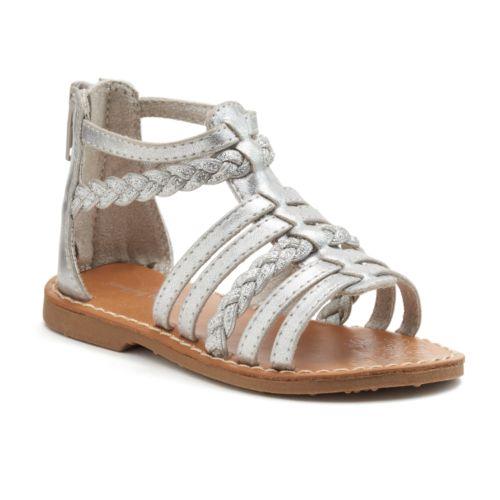 Jumping Beans® Toddler Girls' Metallic Sandals