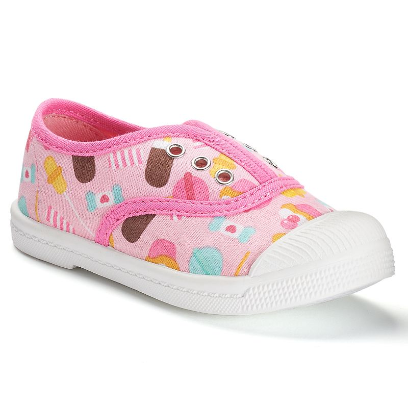 Jumping Beans® Toddler Girls' Canvas Slip-On Shoes