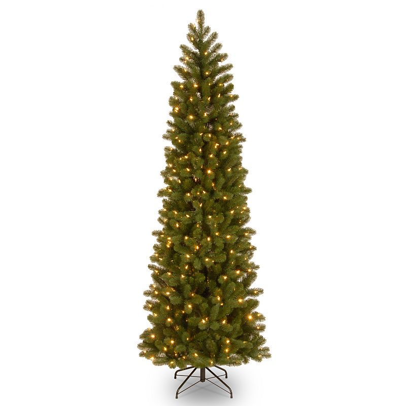 7.5-ft. Pre-Lit ''Feel Real'' Downswept Douglas Fir Pencil Slim Artificial Christmas Tree