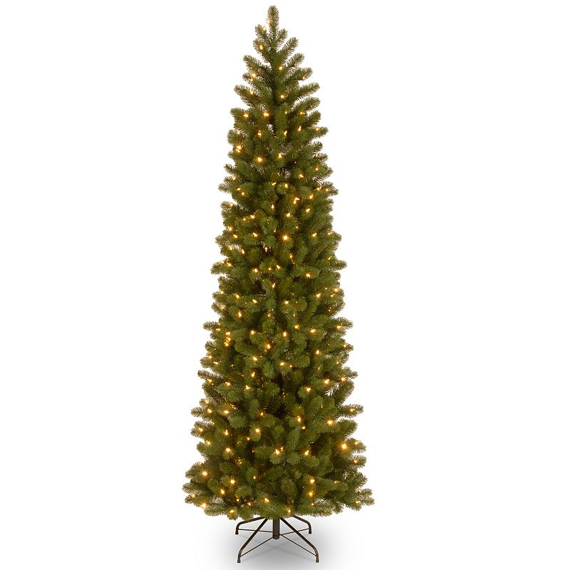 7-ft. Pre-Lit ''Feel Real'' Downswept Douglas Pencil Fir Artificial Christmas Tree
