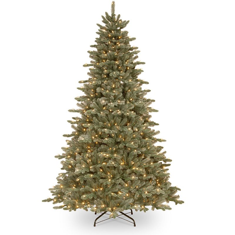 7.5-ft. ''Feel Real'' Pre-Lit Frosted Dover Blue Spruce Artificial Christmas Tree