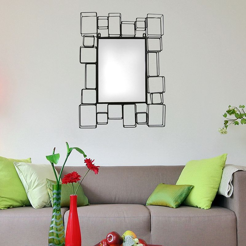 Multicity Squares Metal Wall Mirror