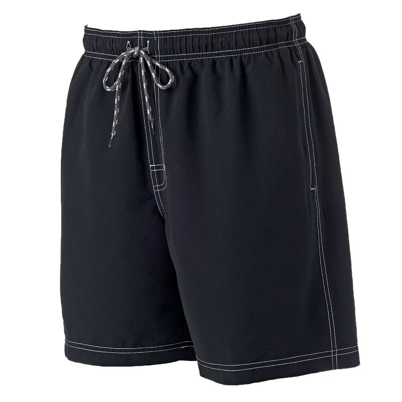 Big & Tall Men's Croft & Barrow® Solid Microfiber Swim Trunks
