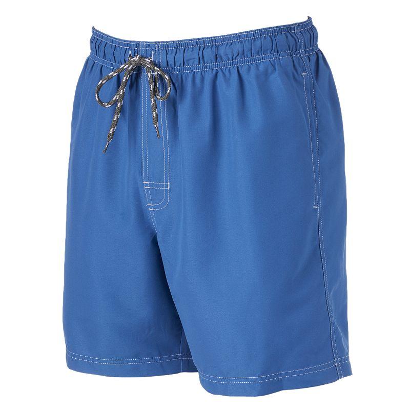 Big & Tall Men's Croft & Barrow® Solid Microfiber Swim Trunks