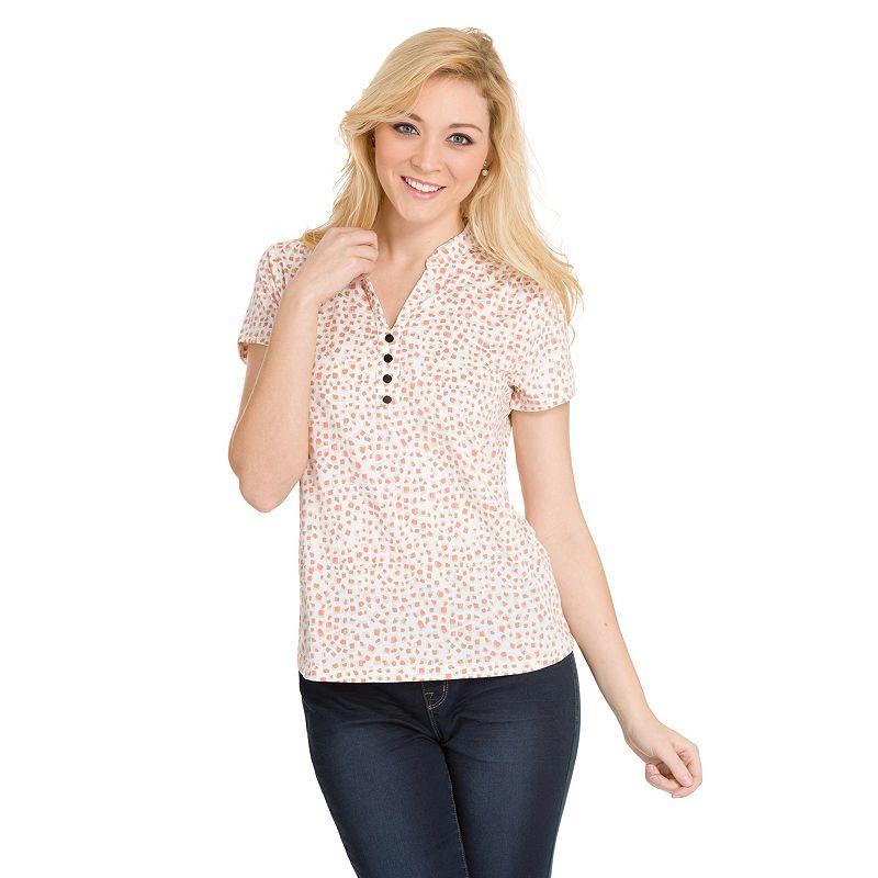 Women's Haggar® Printed Polo Shirt