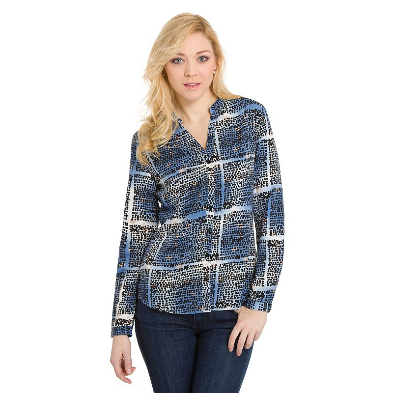 Women's Haggar® Printed Button-Front Blouse