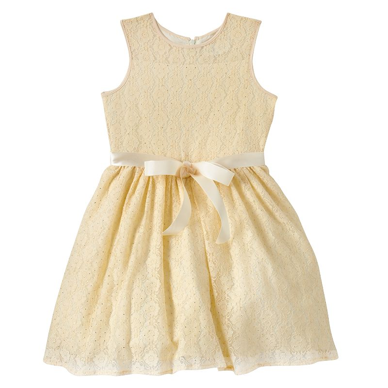 Girls 4-6x Lavender by Us Angels Lace Dress