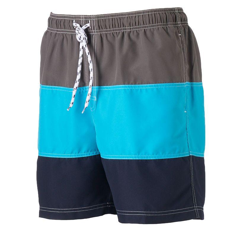 Big & Tall Croft & Barrow® Colorblock Swim Trunks