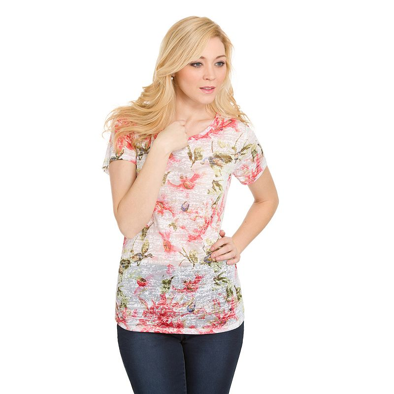 Women's Haggar® Floral Burnout Top