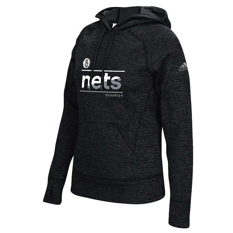 adidas Women's Brooklyn Nets Slant Hoodie