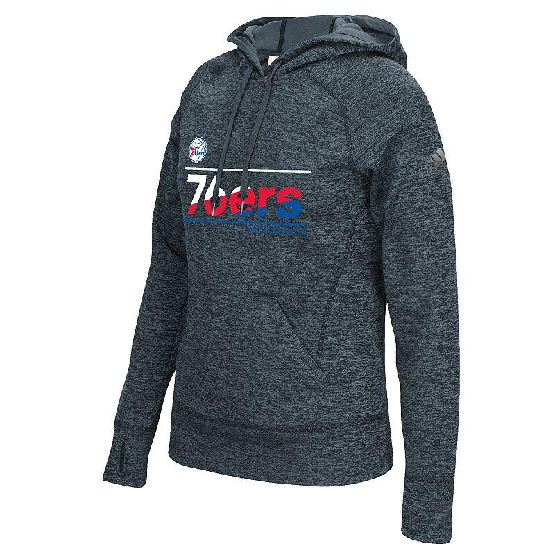 adidas Women's Philadelphia 76ers Slant Hoodie