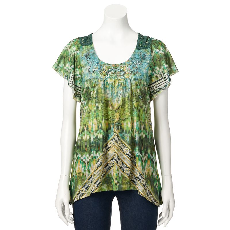 women s apt 9 crochet top size large green women s apt 9 crochet top