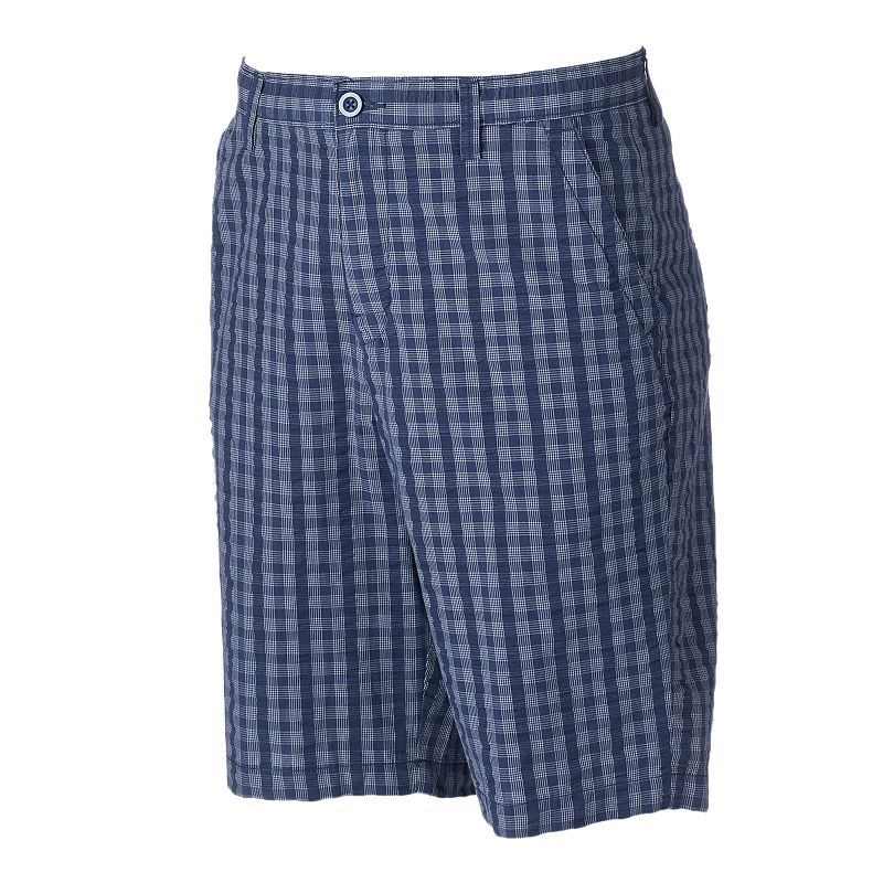 Big & Tall Apt. 9® Modern-Fit Plaid Seersucker Shorts