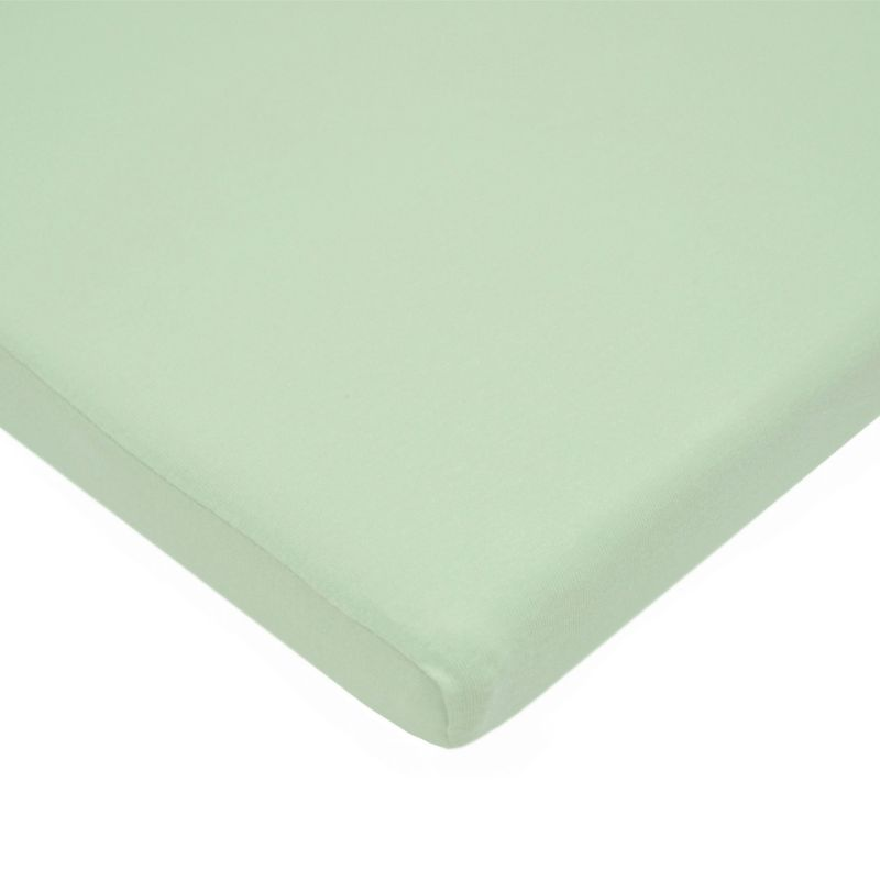 TL Care Jersey Cradle Sheet, Green One Size thumbnail