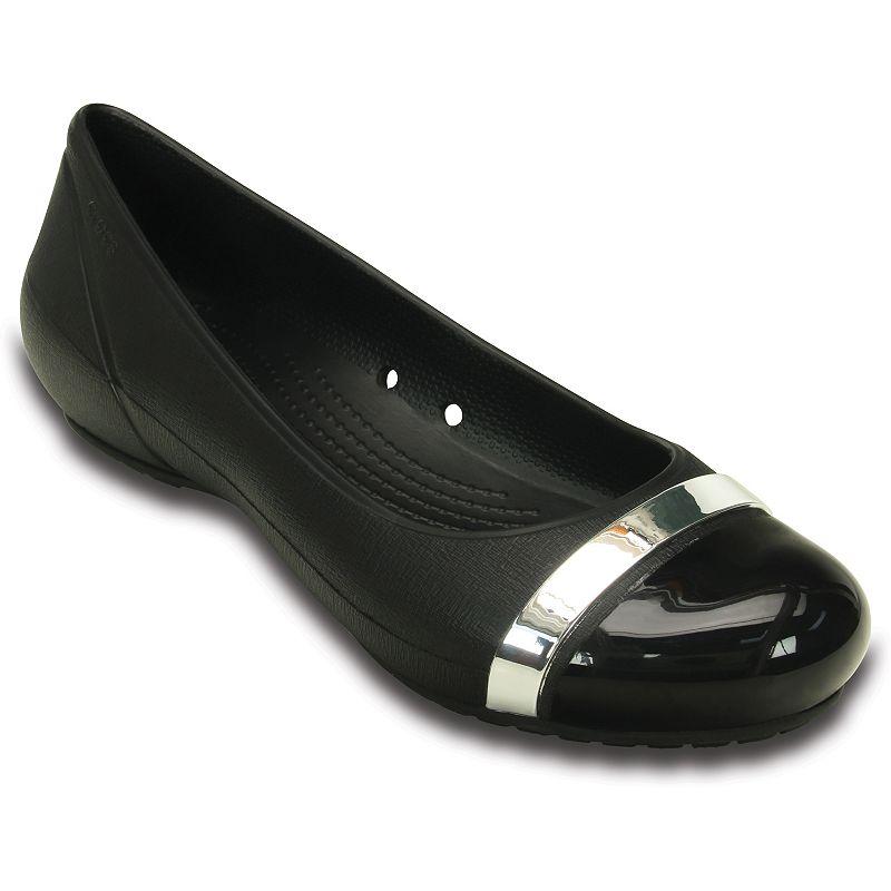 Crocs Cap Toe Mirror Women's Slip-On Flats