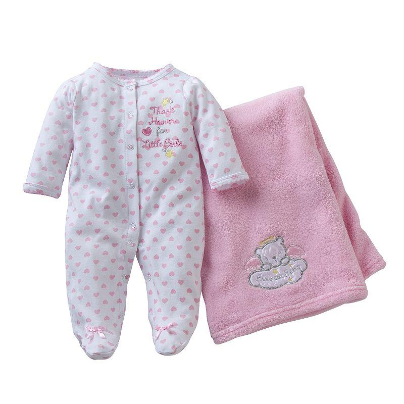 Baby Starters Baby Girl Sleep & Play & Blanket Set