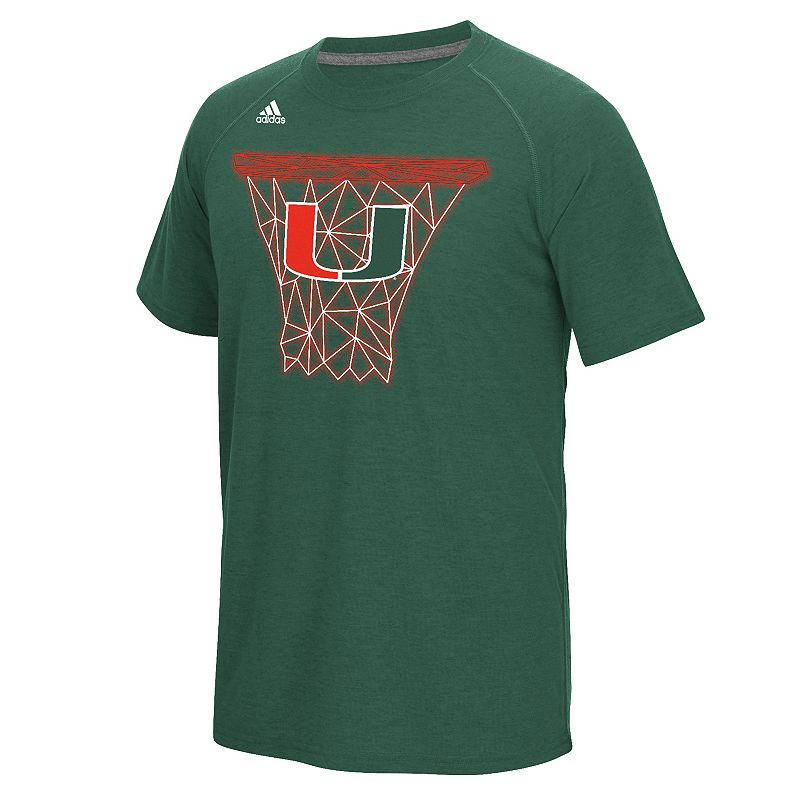 Men's adidas Miami Hurricanes Net Web Tee