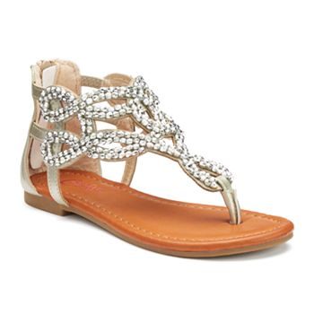 Candies Girls Jeweled Sandals