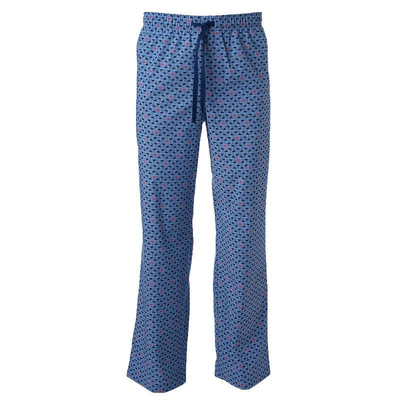 Big & Tall Croft & Barrow® Flamingo Chambray Stretch Lounge Pants