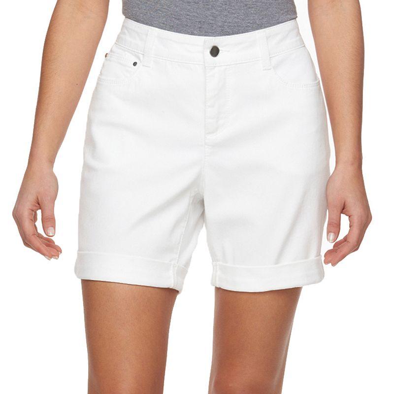 Petite Croft & Barrow® Cuffed Jean Shorts