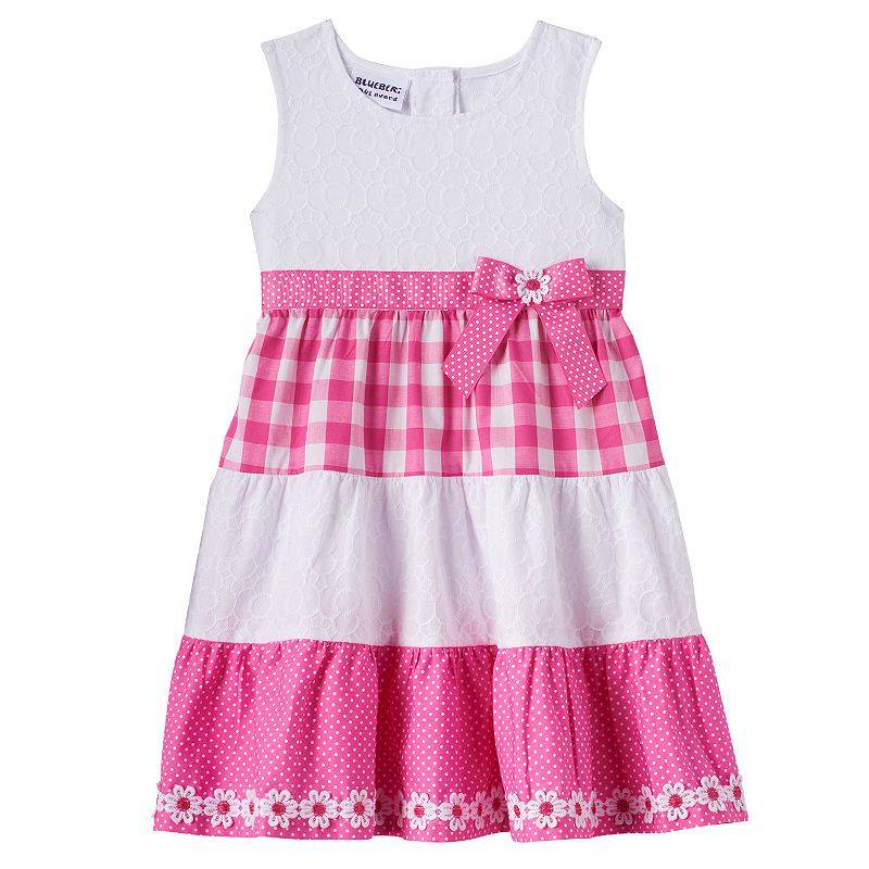 Toddler Girl Blueberi Boulevard Pattern Dress