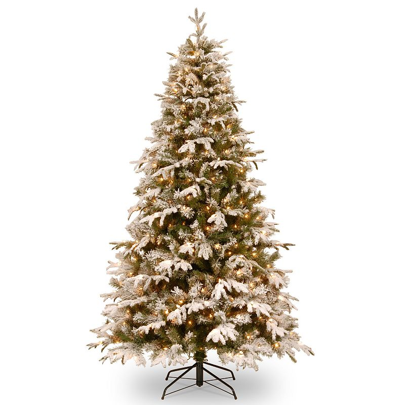 7.5-ft. Pre-Lit ''Feel-Real'' Snowy Everest Artificial Christmas Tree