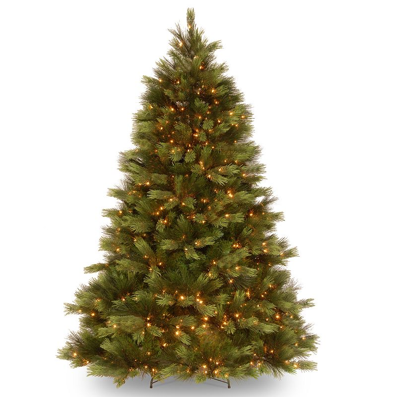 7.5-ft. Pre-Lit ''Feel-Real'' Snowy Pine Artificial Christmas Tree