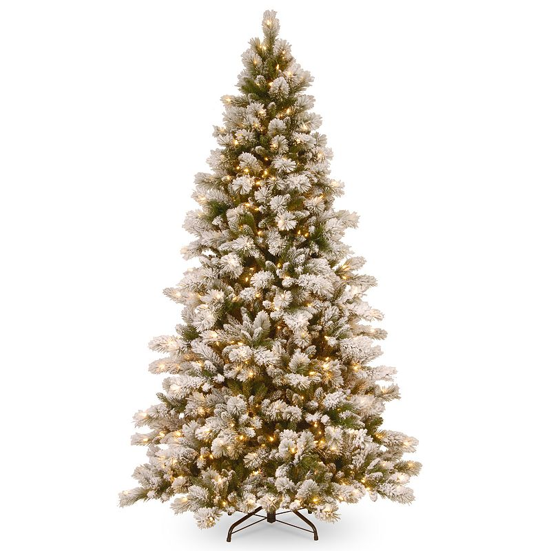 7.5-ft. Pre-Lit Snowy Westwood Pine Artificial Christmas Tree