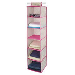 ClosetCandie Hot Pink 6-Shelf Organizer by
