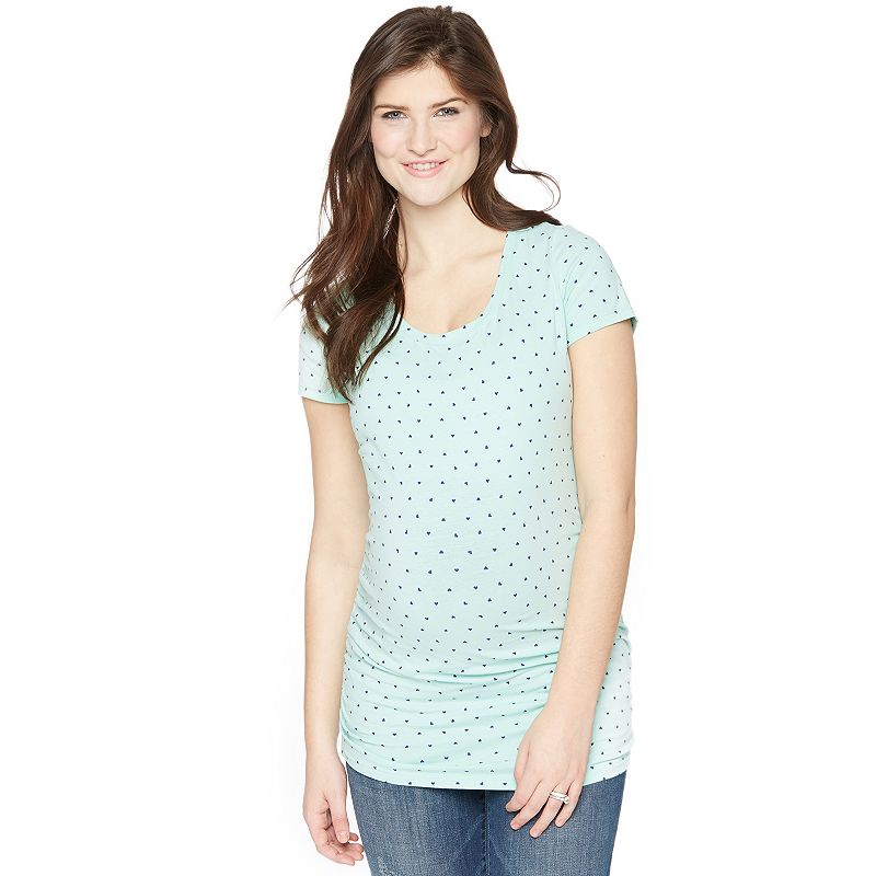 Maternity Oh Baby by Motherhood™ Ruched Scoopneck Tee