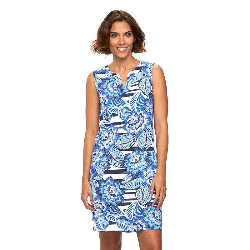 Women's Caribbean Joe Sleeveless Shift Dress
