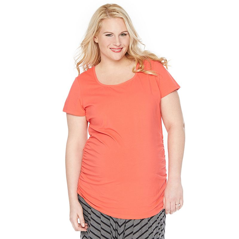 Plus Size Maternity Oh Baby by Motherhood™ Print Scoopneck Tee