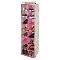 ClosetCandie Hot Pink 16-Pocket Shoe Organizer