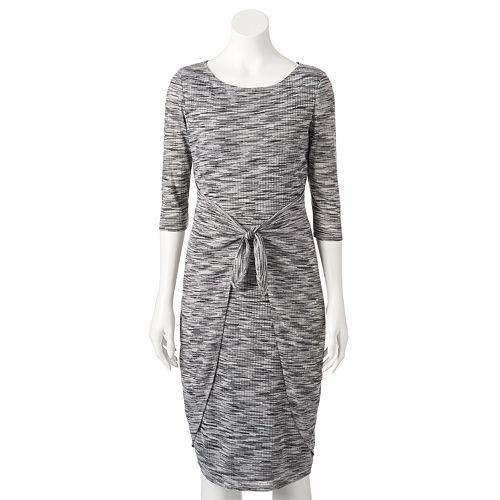 a3cf2cb75c70 Women's Chaya Marled Sweater Dress- Kohl's- ON SALE - SpottedMod