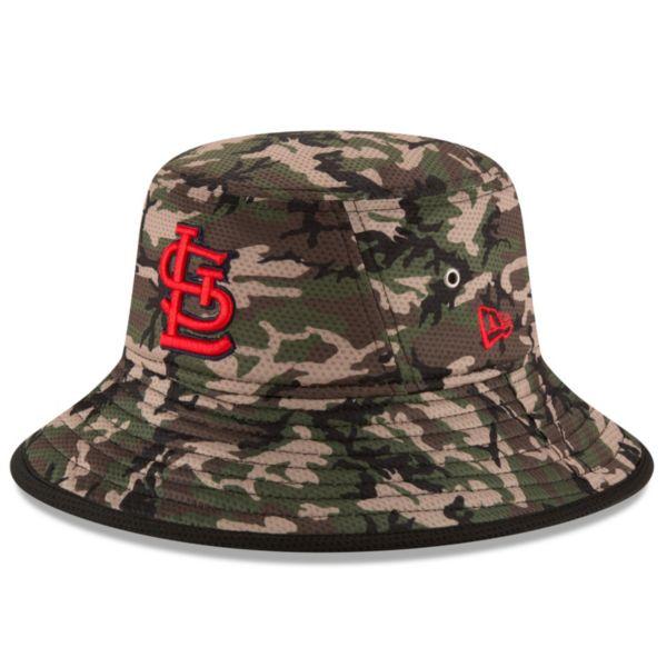 Youth New Era St. Louis Cardinals Redux Camo Bucket Hat