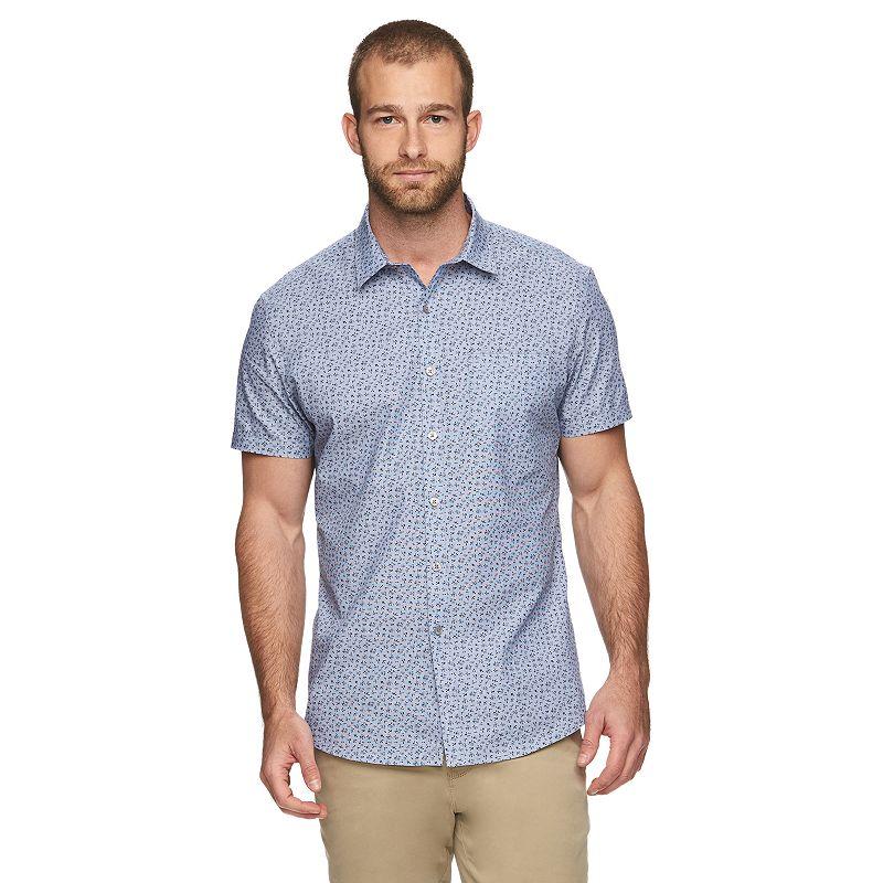 Marc Anthony Slim-Fit Floral Button-Down Shirt - Men