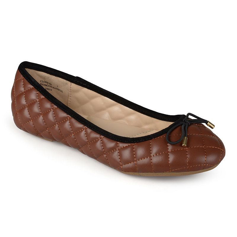 Journee Collection Qyin Women's Quilted Ballet Flats