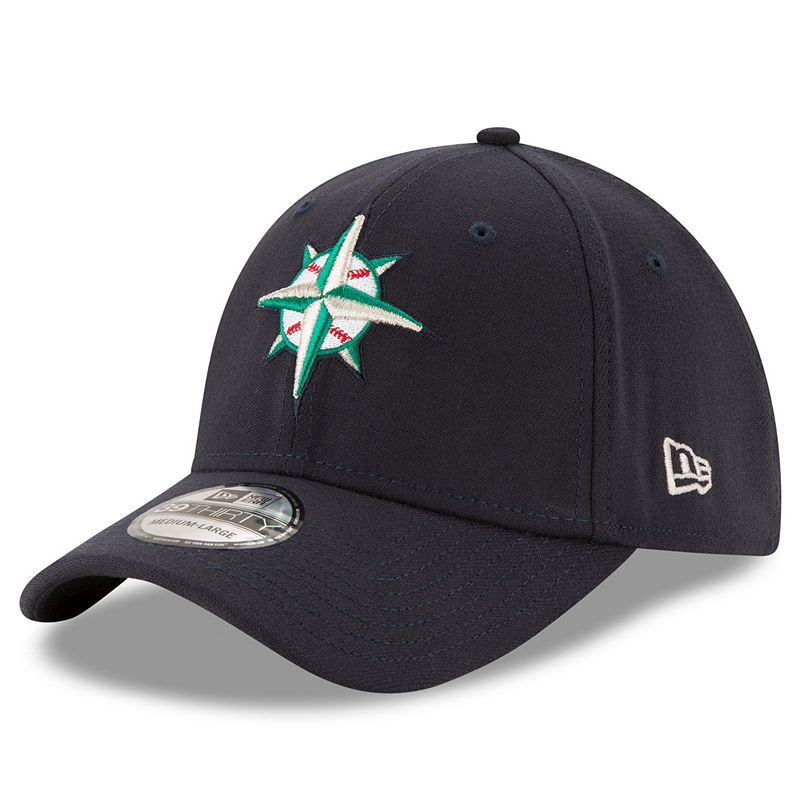 Adult New Era Seattle Mariners 39THIRTY 2 Tone Flex-Fit Cap