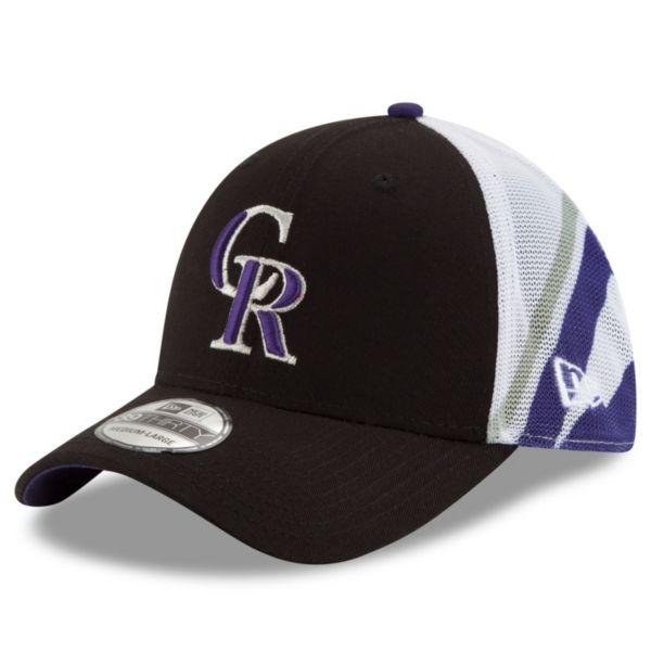 Adult New Era Colorado Rockies 39THIRTY Logo Wrapped Flex-Fit Cap