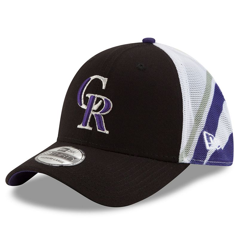 Adult New Era Colorado Rockies 39THIRTY Logo Wrapped Flex-Fit Cap