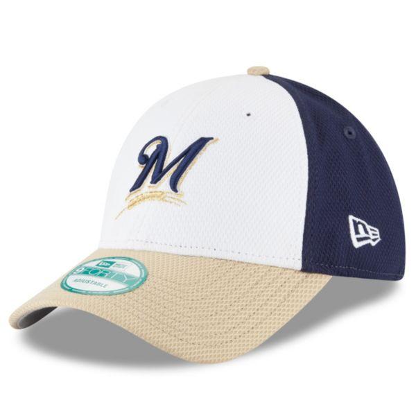 Adult New Era Milwaukee Brewers 9FORTY Performance Block Adjustable Cap