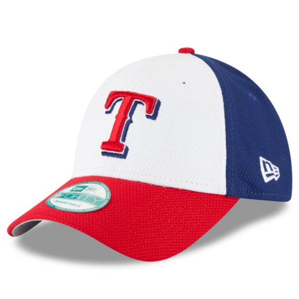 Adult New Era Texas Rangers 9FORTY Performance Block Adjustable Cap