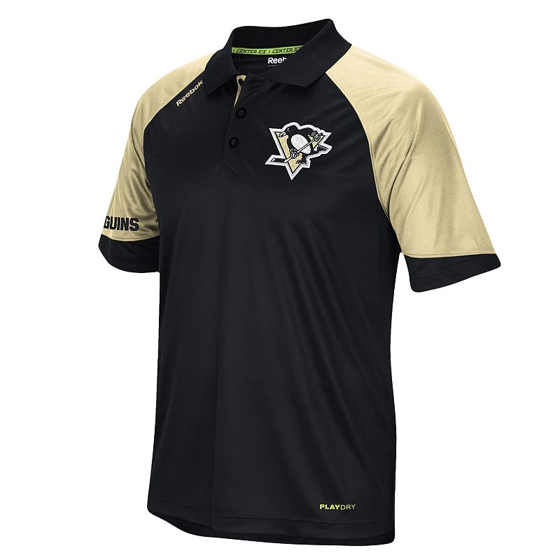 Men's Reebok Pittsburgh Penguins Center Ice Performance Polo