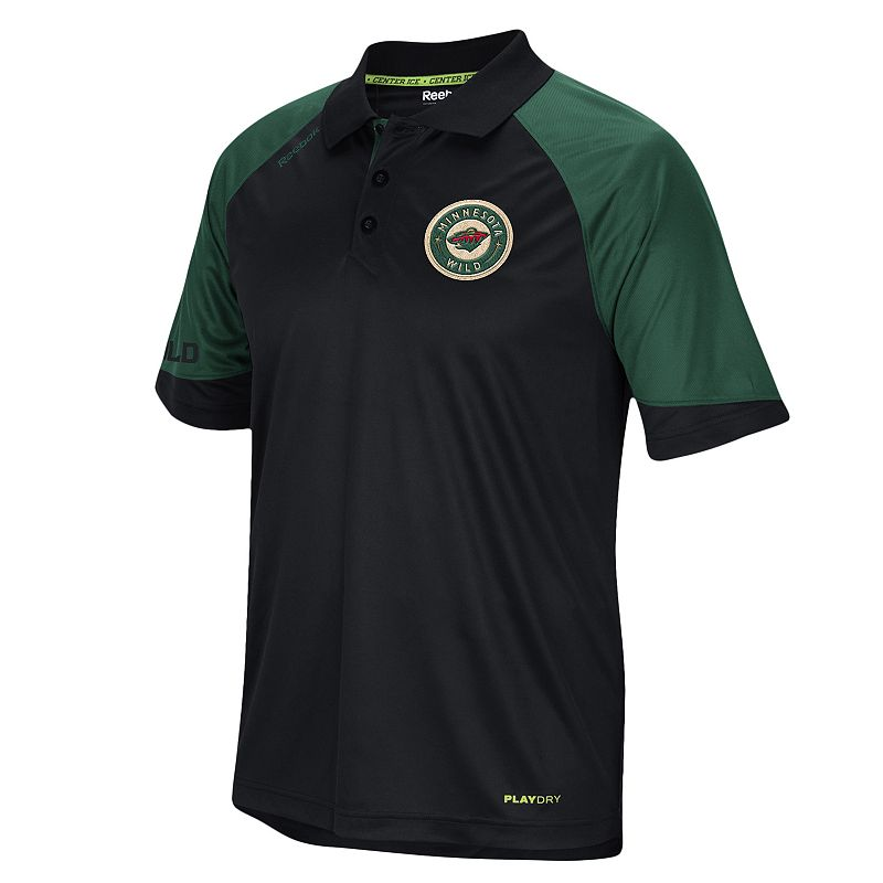 Men's Reebok Minnesota Wild Center Ice Performance Polo