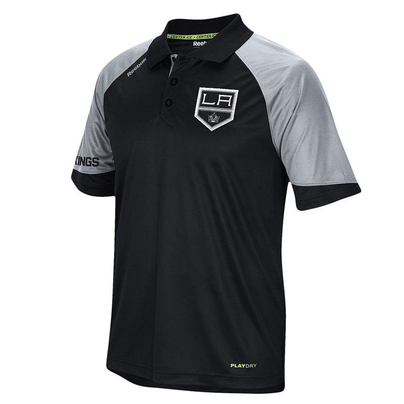 Men's Reebok Los Angeles Kings Center Ice Performance Polo