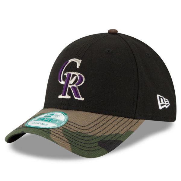 Adult New Era Colorado Rockies 9FORTY The League Camo Adjustable Cap