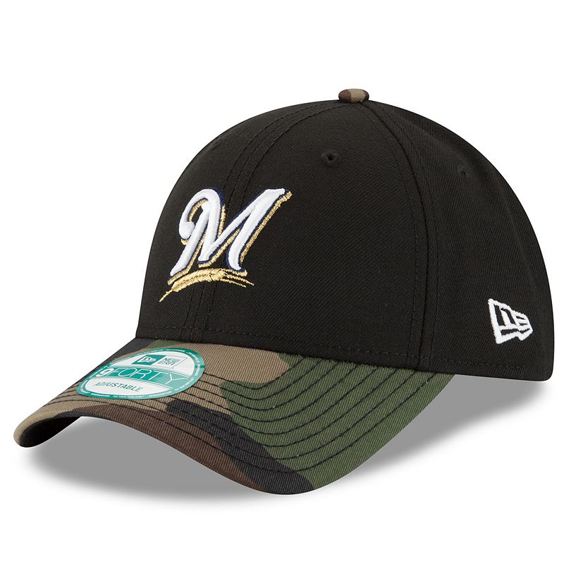 Adult New Era Milwaukee Brewers 9FORTY The League Camo Adjustable Cap