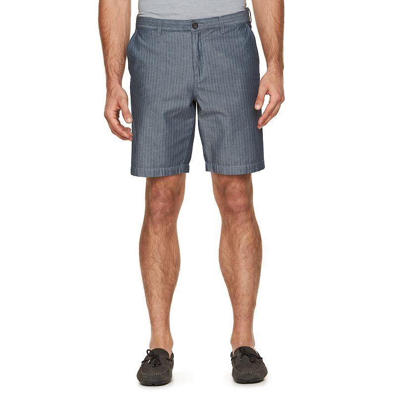 Men's Marc Anthony Slim-Fit Striped Chambray Shorts
